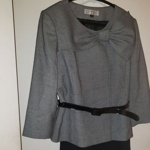 Skirt Suit with accent bow